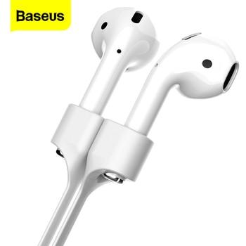 Baseus Headphone Earphone Strap For Apple Airpods Anti Lost Strap Magnetic Loop String Rope For Air Pods Silicone Cable Cord for apple airpods 1 2 sports anti lost headphone cord high end magnetic anti lost headphone cord