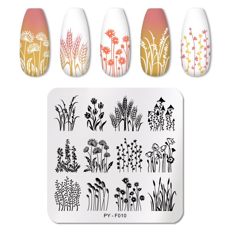 PICT YOU 12*6cm Nail Art Templates Stamping Plate Design Flower Animal Glass Temperature Lace Stamp Templates Plates Image 79