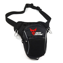 цена на Motorcycle Drop Leg Bag Black Reflective Waterproof Nylon Motorbike Bags Outdoor Casual Waist Bag