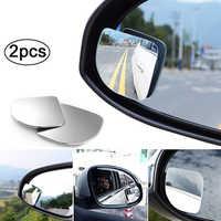 Espejo retrovisor convexo HD de 360 grados para coche, accesorios de estacionamiento sin marco, gran angular, 2 uds.