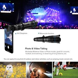 Image 4 - APEXEL 옵션 HD 36X 금속 망원경 망원 렌즈 monocular 모바일 렌즈 + selfie 삼각대 삼성 화웨이 모든 스마트 폰