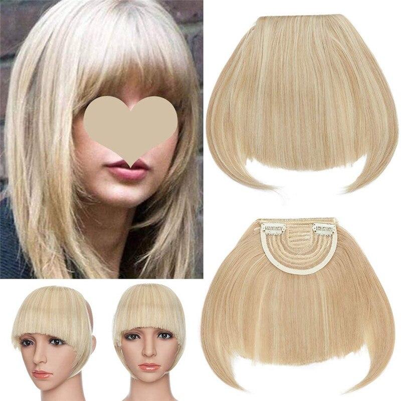 Короткие синтетические челки Kong & Li, термостойкие шиньоны, женские натуральные короткие искусственные волосы, челки, зажимы для наращивания...