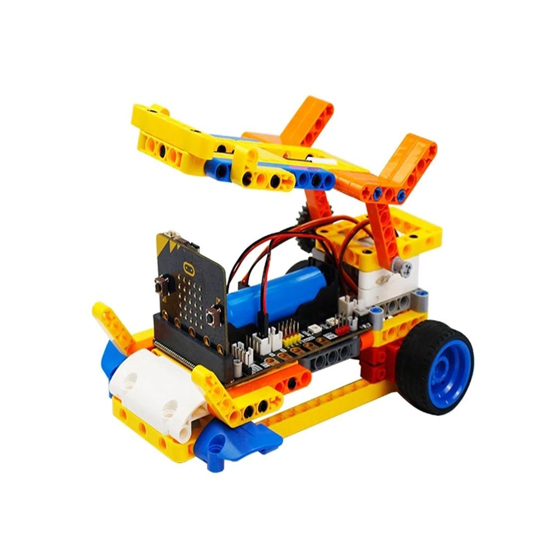 Programm Intelligente Roboter Baustein Auto Kit Verschiedene Formen Dampf Programmierung Bildung Auto Für Micro: Bit Programmierbare Spielzeug