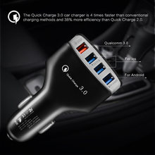 Useful QC3.0 Fast Charging Car Charger 4 USB Ports 3.5A Auto USB Charger Adapter interior Phone Accessories(China)