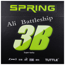 Table-Tennis-Rubber Sponge Pips-In TUTTLE Super-Tacky And with 3B SPRING