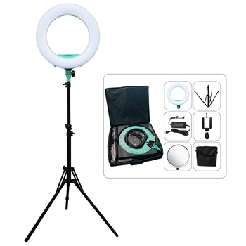 "Yidoblo AX-480SII Warm&Cold Color Ring Lamp Broadcast/Video/photography/makeup Ring Light 18"" 240pcs LEDS Lamp +tripod kit"