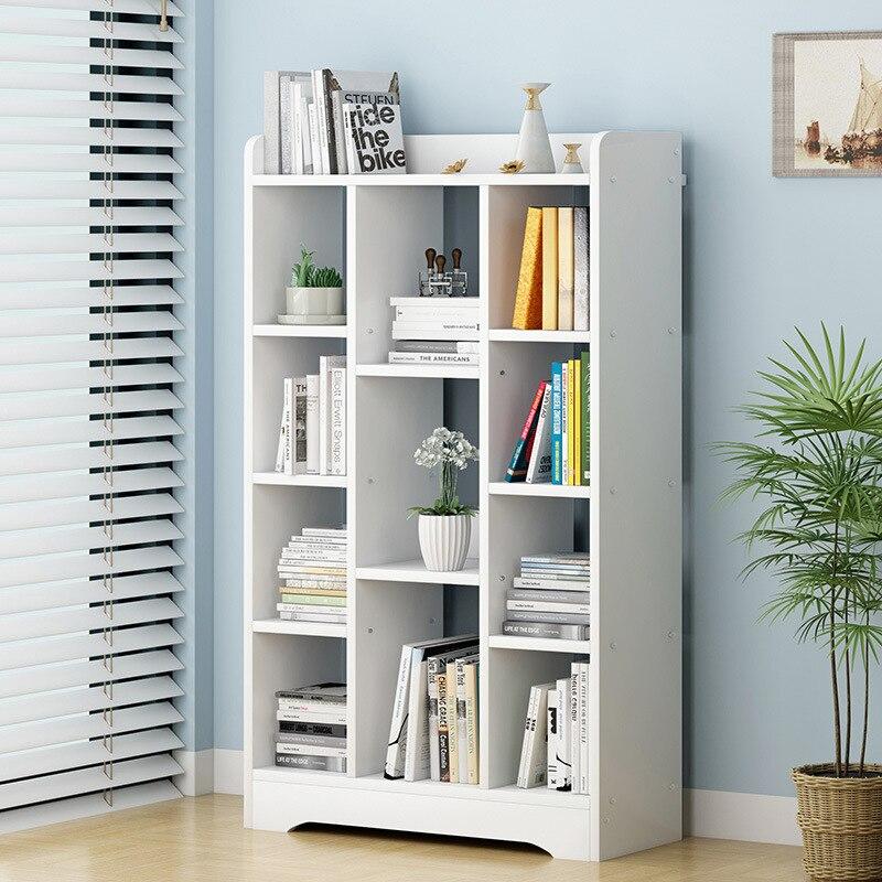 Bookshelf Floor Simplicity Minimalist Modern Bay Window Storage Shelf Creative Bookshelf Bookcase Free Combination Table For Stu