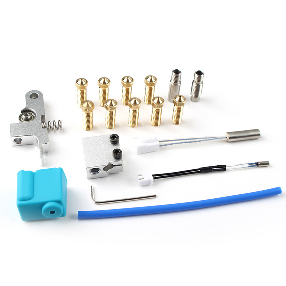 3D Printer Throat Tube Heater Blcok Extruder Kit DIY Professional Replacement Parts Genius Nozzle Fo