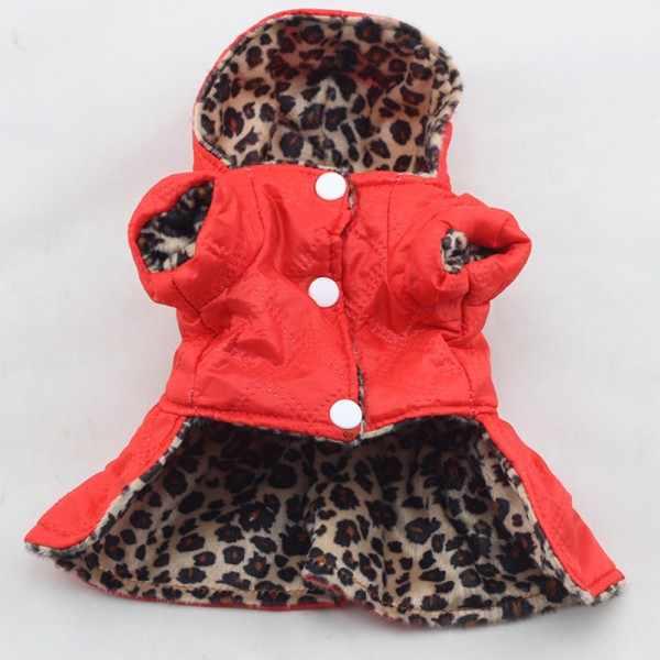 Cane Gatto Vestiti Vestito Tutu Pet Con Cappuccio Vestiti del Pannello Esterno Del Leopardo di Inverno Con Il Cappello Per Il Piccolo Cane Teddy Chihuahua Prodotto Dell'animale Domestico