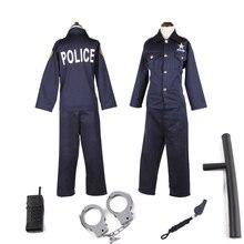 Purim Costume Police Cosplay Halloween Children Stage-Suit Wonder Garden Profession Boys