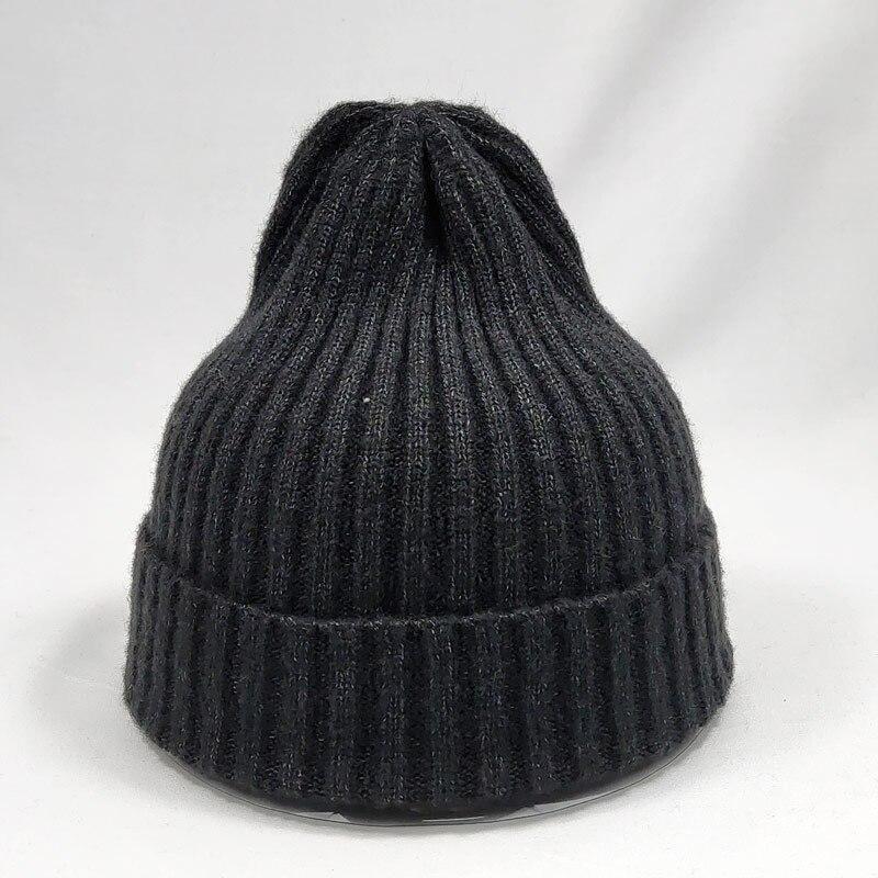 Fillet Release 2 Knit Caps Beanie Skull for Mens Black