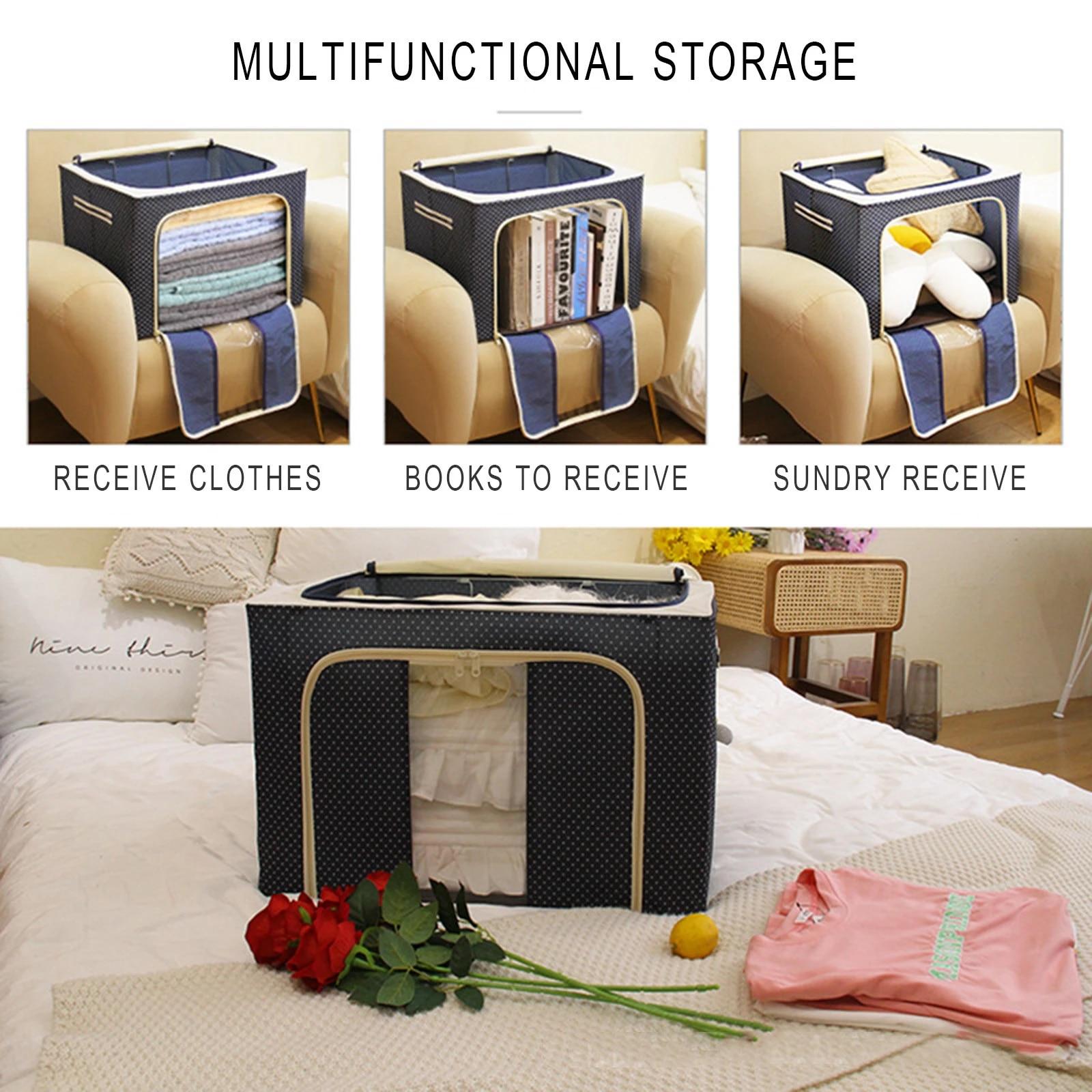 11L Foldable Storage Bag Container Clothes Blanket Quilt Closet Organizer