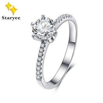 Lujoso platino PT950 1 quilate incoloro VVS corazones y flechas Charles Colvard Forever One Moissanite diamante anillos de boda para las mujeres