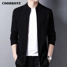 COODRONY Brand Sweater Men High Quality Pure Merino Wool Cardigan Men Clothing 2020 Autumn Winter Thick Warm Sweatercoats C3012