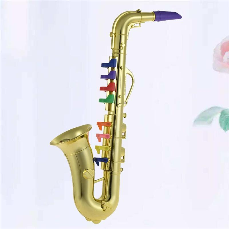 1Pc Eight-tone Bent Pipe Saxophone Funny Exquisite Music Instrument Toy Early Educational Toys For Kids Children