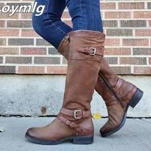 Oymlg женские высокие сапоги до колена в гладиаторском стиле