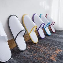 Nowe proste Unisex jednorazowe kapcie Hotel Travel Spa Salon przenośne kapcie prywatne strona główna gość kryty tkanina polarowa pantofel tanie tanio MSFGJZM Domu bawełna buty CN (pochodzenie) Na wiosnę jesień Indoor flokowane RUBBER Mieszkanie (≤1cm) Podręczne Dobrze pasuje do rozmiaru wybierz swój normalny rozmiar