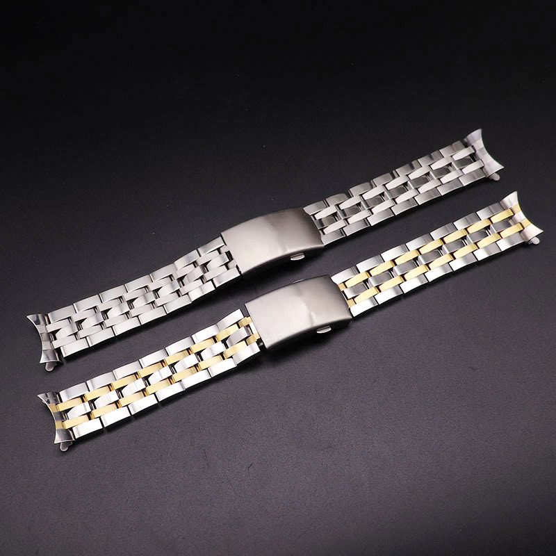 <font><b>19MM</b></font> 20MM Stainless Steel Watch Bands For Tissot 1853 T17 T461 T014430 T014410 <font><b>PRC200</b></font> Strap Curved Watchband Silver Gold TOOLS image