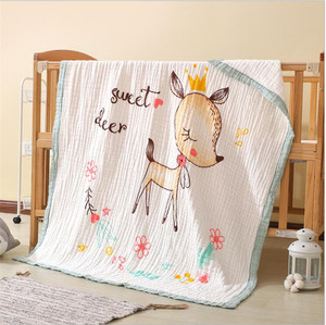 Image 3 - 120*150cm תינוק שמיכות יילוד החתלה לעטוף שש שכבות מוסלין כותנה החתלה יילוד חיתולי תינוק מצעים קבלת שמיכה