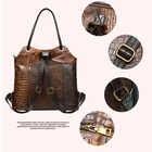 WESTAL Patchwork sacs à dos pour femmes sacs d'école en cuir véritable pour adolescent sac à dos pour ordinateur portable sac à bandoulière femme école sac à dos - 2