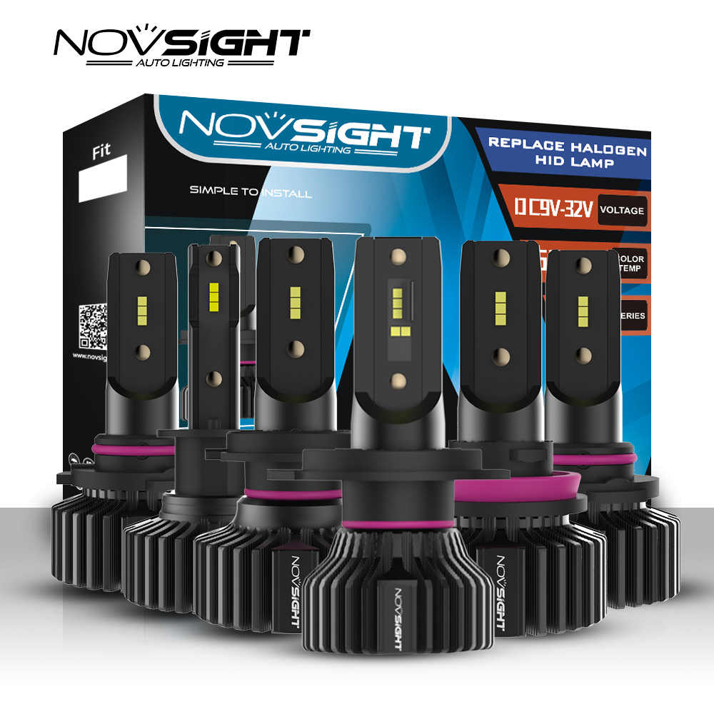 NOVSIGHT Mini Car H4 LED H7 led Headlight Bulbs H1 H8 H11 LED Lamp 12v 9005 HB3 9006 HB4 Canbus Auto Headlamps Fog lights Kit