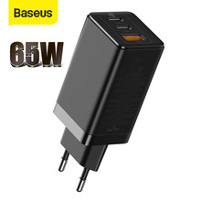 Chargeur Baseus 65W GaN Charge rapide 4.0 PD Charge rapide USB Type C chargeur de Charge rapide pour iPhone 12 11 Pro Max