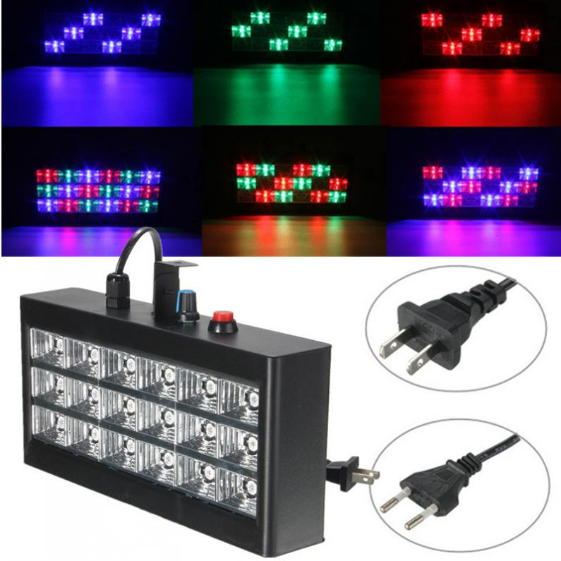 18W RGB  Voice Automatic Control LED Stage Strobe Light Projector for Club Disco KTV|Stage Lighting Effect| |  - title=
