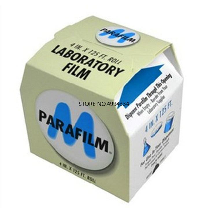 Free Shipping 1Roll/lot 10cmx38m Sealing Film, Parafilm M Laboratory Seal Film PM-996 4INX125FT