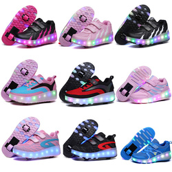 Roller shoe New Glowing Sneakers Fashion Colorful Light Shoes Kids Adult Ultra-light Roller Heelys Skates Sneakers