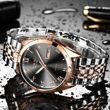 Часы наручные LIGE мужские с хронографом, брендовые модные водонепроницаемые деловые, из нержавеющей стали, 2020