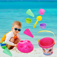 Moulds Play-Toy-Set Ice-Cream Beach-Bucket Plastic Kids Summer for 3-6-Years-Old