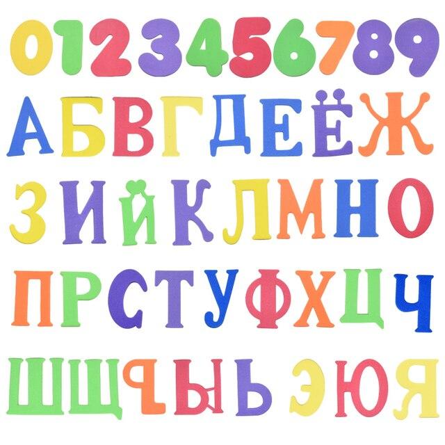 Alfanumerico Lettera Di Puzzle Giocattoli Da Bagno Morbido EVA Bambini Del Bambino Del Bagno di Acqua Giocattoli Educativi Precoci di Aspirazione Up Pesce Giocattolo di Balneazione 4