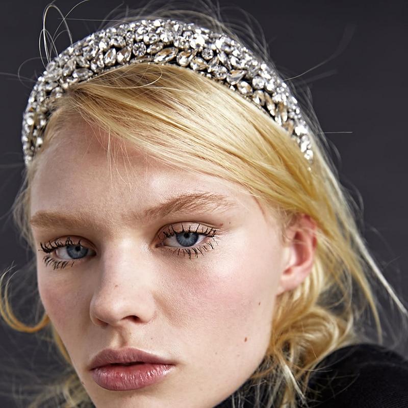 Full Rhinestone Crystal Headband Hair Hoop Vintage Headpiece Prom Party Wedding Ladies Hair Ornament 2020 New Shinny Jewelry