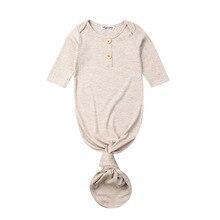 Focusnorm/Новинка; модная повседневная одежда для сна для новорожденных девочек и мальчиков; одежда для сна в полоску; однотонная хлопковая одежда для сна