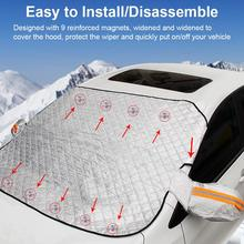 Universal 9pcs Magnets Car SUV Window Snow Cover Anti-frost Sun Shade Protection Cover Car Clothing Car Windshield Snow Cover