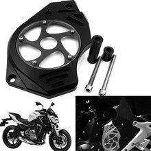 Engrenagem da motocicleta decoração capa dianteira da roda dentada capa para kawasaki er6n er6f ninja 650/400 diabo 650 versys 650 vn 650/vulcanos