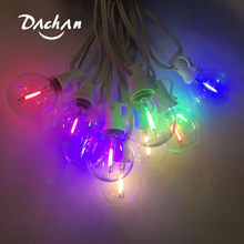 G40 colorful String Lights With 25 Glass Bulbs Indoor/Outdoor Hanging Umbrella Patio Wedding Party String Light EU/US/UK