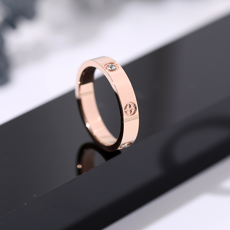 Classic Stainless Steel Screw Rose Gold Silver Color Rings Filled Love Wedding for Men Women Engagement Jewelry (GR228) 3