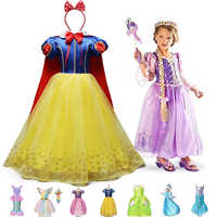 Ropa de fiesta para niña, Vestido de princesa Blancanieves, Cosplay de bella Sofía, Vestido de verano para niña, Vestido de fantasía para niña