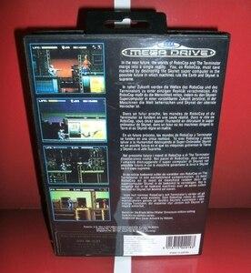 Image 2 - RoboCop مقابل المنهي غطاء الاتحاد الأوروبي مع صندوق ودليل ل Sega megنسيج نشأة لعبة فيديو وحدة التحكم 16 بت MD بطاقة
