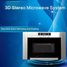 Швеция оригинальная импортная нержавеющая сталь большой емкости Встроенный Ультра-тонкий 3D Трехмерная микроволновая печь
