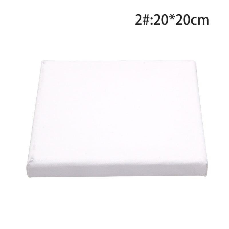 """2021 blanco nuevo lienzo cuadrado en blanco Marco de tablero de madera para pintura al óleo acrílica imprimada 2 #20*20cm/7,87 """"* 7,87"""""""