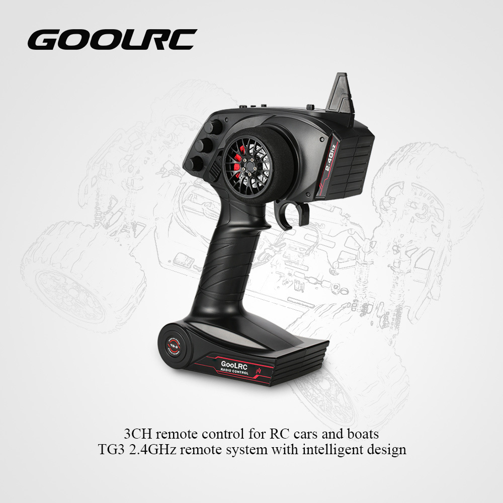 Remote-Control-Transmitter Radio Goolrc with Receiver for Car Boat Tg3/3ch/2.4ghz-parts