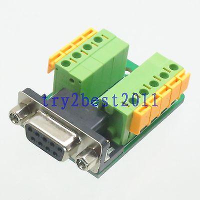 DHL/EMS 50 Sets Adapter DB9 DB-9 9pin Jack Pin D-SUB VGA DE9 Signals Terminal Breakout Board -C1