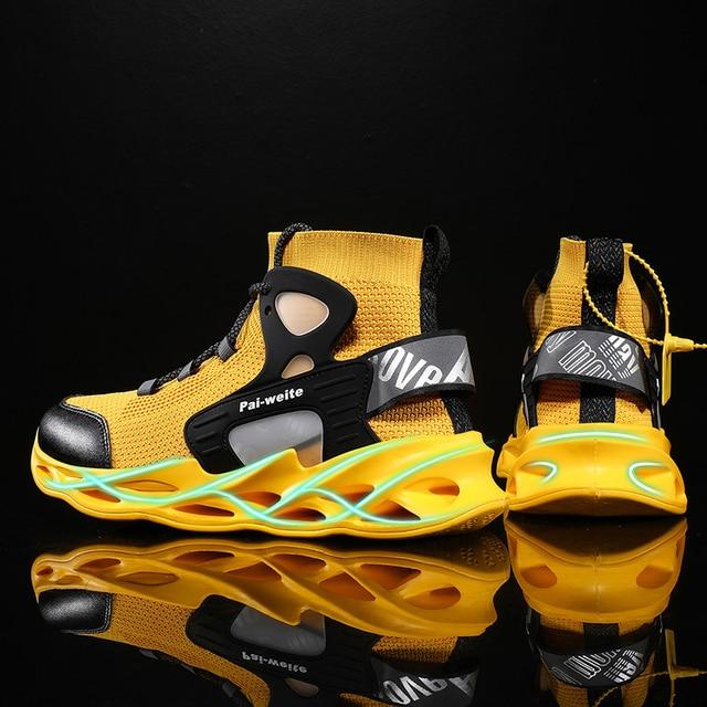 2020 새로운 야외 남자 무료 실행 남자 조깅 산책 스포츠 신발 고품질 레이스 업 Athietic 통기성 블레이드 스 니 커 즈