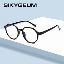 SIKYGEUM Black Frame Glasses for Women Clear Lens Eyewear Computer Eyeglasses UV