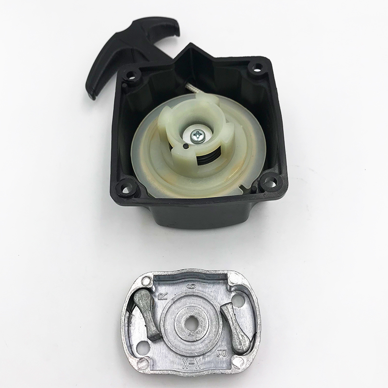 HUNDURE 40-5 44-5 Grass Trimmer Start Steel Recoil Pull Starter Assy Fits for 430 520 43CC 52CC bc430 bc520 Brush Cutter