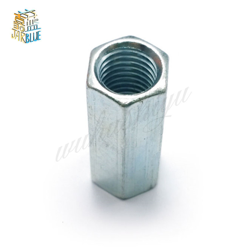 5/2/1pcs M5 M6 M8 M10 M12 M14 M16 M18 M20  Rod Coupling Hex Nut Steel Galvanized Long Hex Nut Connection Thread Nut