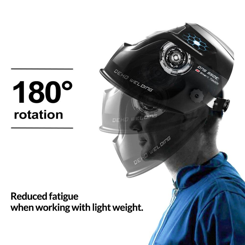 Image 2 - DEKO Skull Solar Auto Darkening Electric Welding Mask/Helmet/Welder Cap Adjustable Welding Lens Eyes Mask for Welding Machine-in Welding Helmets from Tools