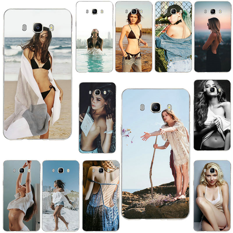 Fashion <font><b>Sexy</b></font> <font><b>Girl</b></font> Soft Silicone TPU Mobile Phone <font><b>Cases</b></font> For Samsung <font><b>Galaxy</b></font> J1 Mini J2 J3 J4 <font><b>J5</b></font> J6 J7 J8 <font><b>2016</b></font> 2017 2018 Prime image